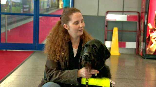 Joanna Jones and her guide dog