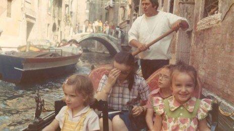 Saragosa family in Venice, 1973