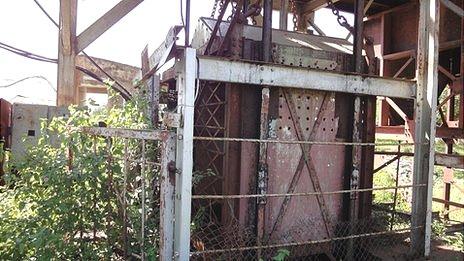A dilapidated miner's carriage in Kolar