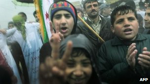 Anti-government protest in Idlib (09/12/11)