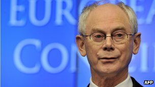 The President of the European Council, Herman Van Rompuy, in Brussels, 9 December