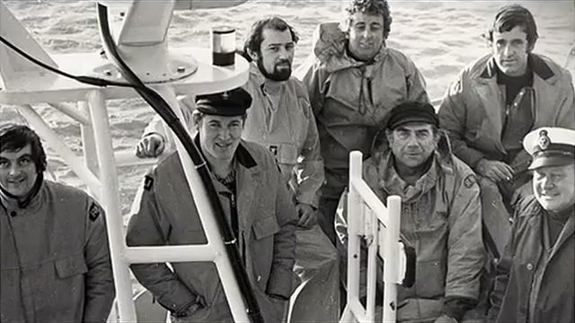 Guernsey lifeboat crew members
