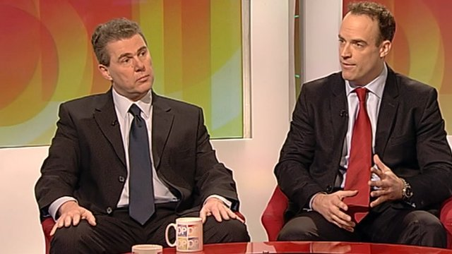 Mark Serwotka and Dominic Raab