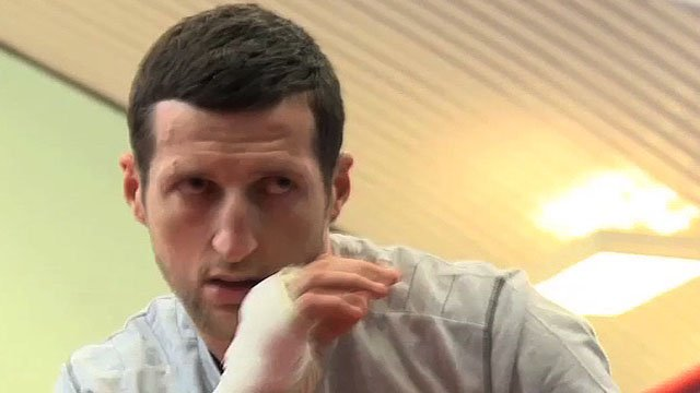 Carl Froch trains ahead of Saturday's fight with Andre Ward