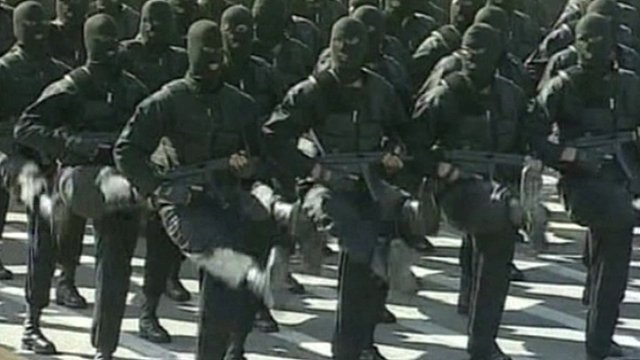 Iran's elite forces: Yegan-e-vizheh, marching