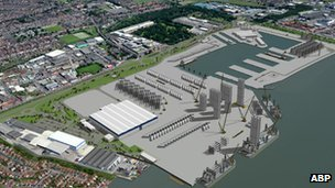 Artist&#039;s impression of new factory