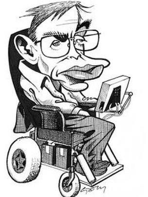 Caricature of Prof Hawking
