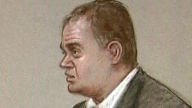 Court drawing of Gary Dobson