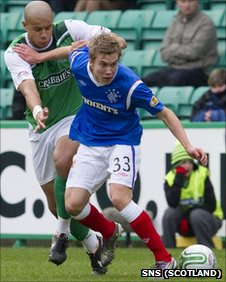 Rangers midfielder Thomas Bendiksen
