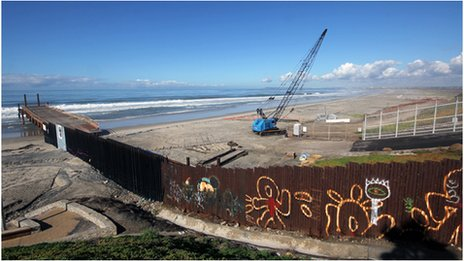 The border fence