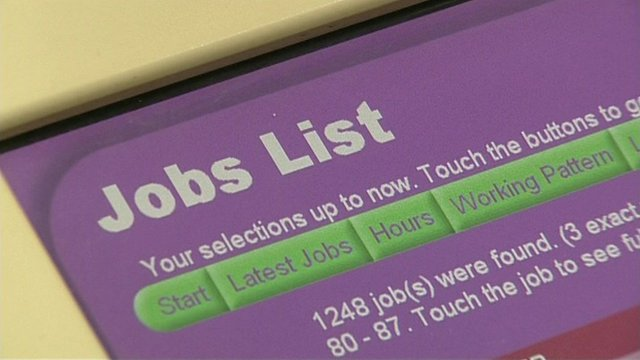Job centre jobs list screen