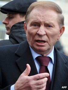Ukrainian ex president Leonid Kuchma (file pic March 2011)