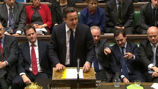 Cameron at the despatch box