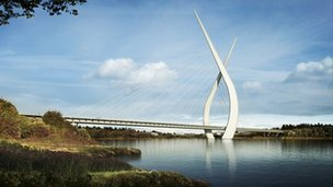 Artist's impression of the New Wear Crossing. Photo: Sunderland City Council