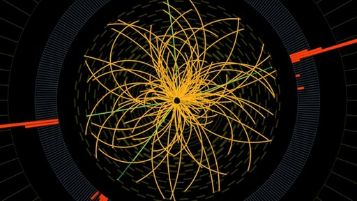 Proton-proton collision graphic