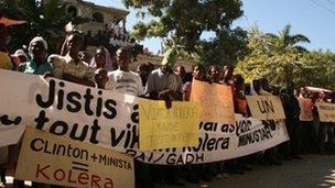 Anti-UN protests in Haiti