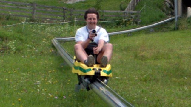 David Ellis on rollercoaster