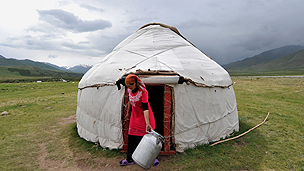 Traditional Kyrgyz yurt