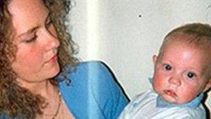 Nicola Payne and her son Owen