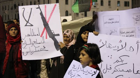 Protest against weapons in Tripoli