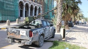 Misrata brigade vehicle with truck-mounted gun