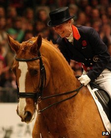 Laura Bechtolsheimer with Alf at Olympia