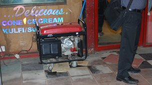 generator outside an ice cream parlour