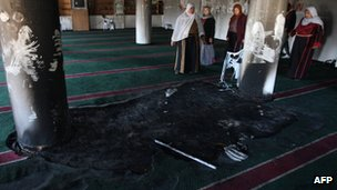 Interior of Mosque at Burka, 15 December 2011