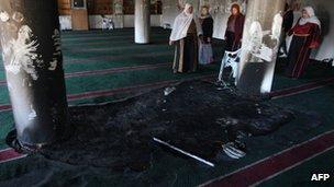 Interior of Mosque at Burka, 15 December 2011