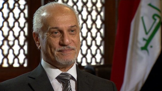 The Deputy Prime minister of Iraq, Hussain al-Shahristani