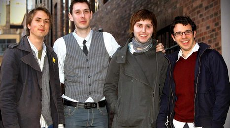 The Inbetweeners: Joe Thomas, Blake Harrison, James Buckley and Simon Bird