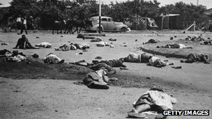 Aftermath of the massacre at Sharpeville, 21 March 1960