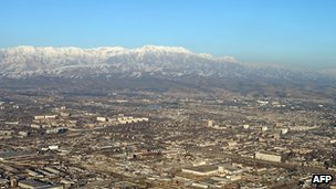 View of Tajik capital Dushanbe