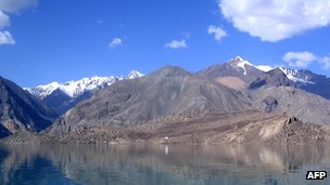 Lake Sarez in the Pamir Mountains of Tajikistan