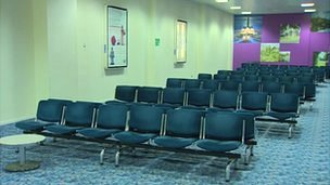 Empty seats at Durham Tees Valley Airport