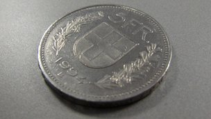 Five Swiss francs