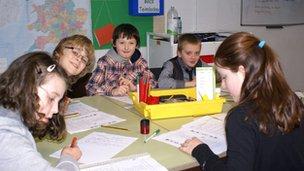Year 6 pupils at Ysgol Kingsland, Holyhead