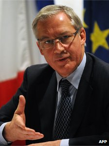 Christian Noyer, chairman of the French central bank, on a visit to Singapore, 30 November