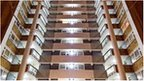 Social housing block fitted with LED lights (Image: Energy Saving Trust)