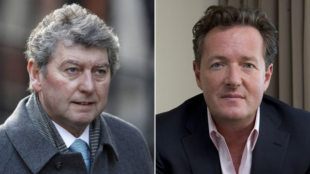 Colin Myler and Piers Morgan