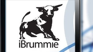 iBrummie app on a mobile phone