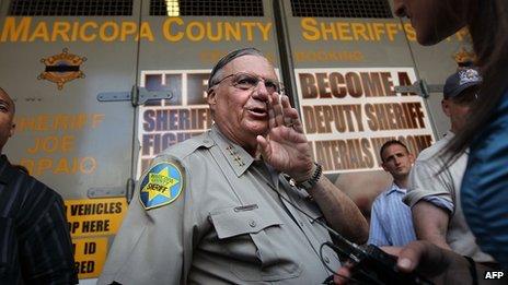 File photo of US Sheriff Joe Arpaio