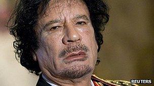 Col Muammar Gaddafi (file image)