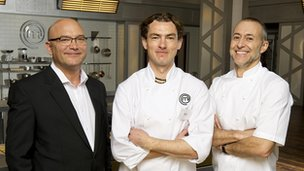 Gregg Wallace, Ash Mair and Michel Roux Junior