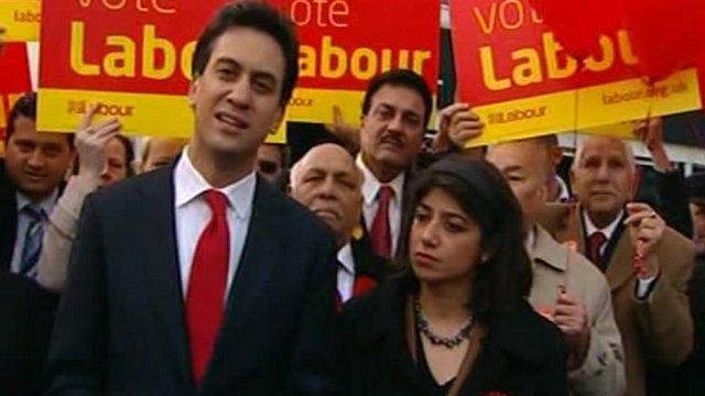 Labour leader Ed Miliband with Seema Malhotra