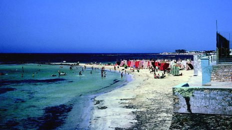 The beach at Tripoli