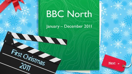 Front cover BBC North scrapbook
