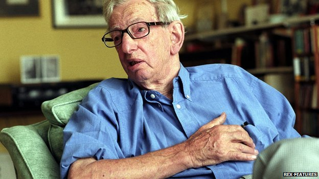 Eric Hobsbawm at home, 20 August 2003