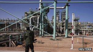 Oil refinery at Ras Lanuf. 5 Nov 2011