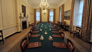 The cabinet room at Number 10 Downing Street